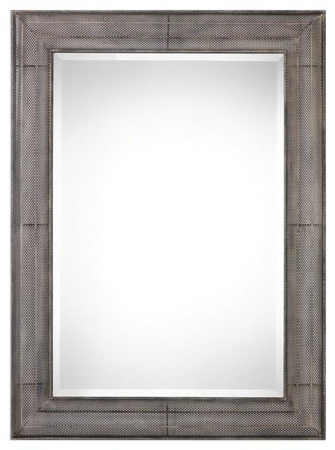 Uttermost Corsica Open Metal Mirror.