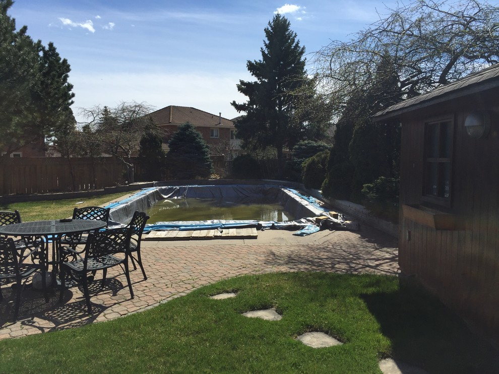 Vaughan Backyard Before Picture of Pool Area