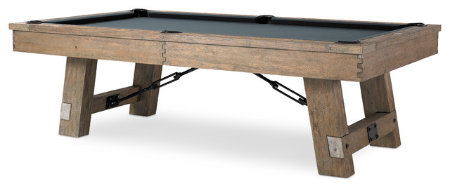 Plank And Hide   Isaac Pool Table With Accessories, 8u0027   Game Tables