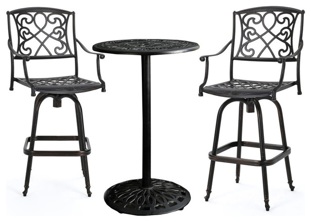 GDF Studio 3-Piece Paris Outdoor Copper Cast Aluminum