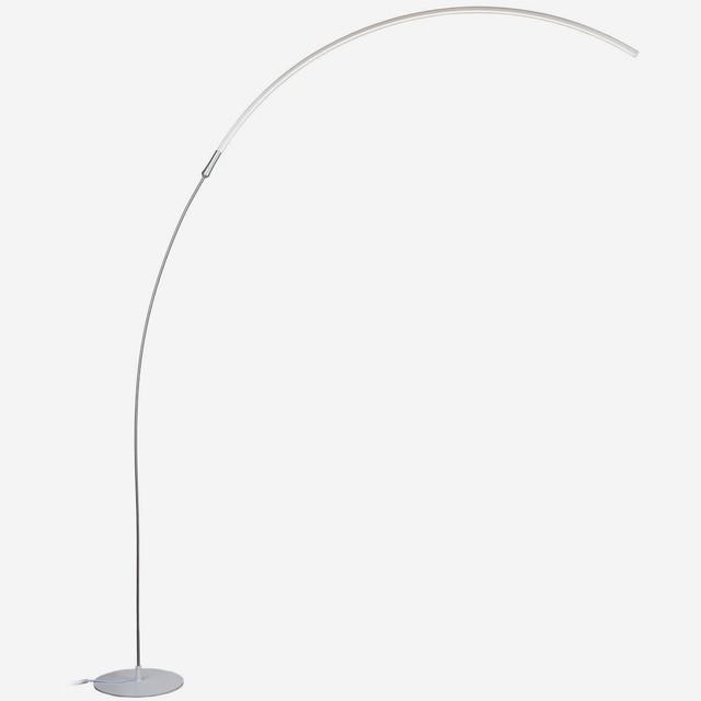 Brightech Sparq Arc LED Floor Lamp, Silver