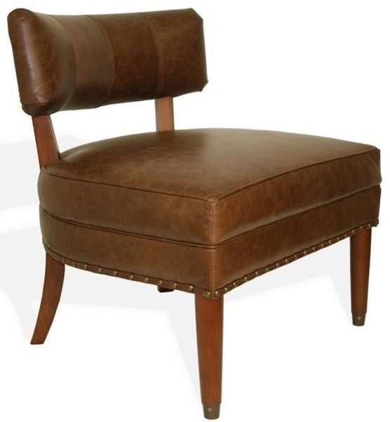 Chesterfield Chair Top Grain Vintage Leather   Transitional   Armchairs And  Accent Chairs   By Advanced Interior Designs