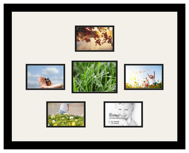 Arttoframes collage photo frame with 1 5x7 and 5 4x6 for Modern collage frame