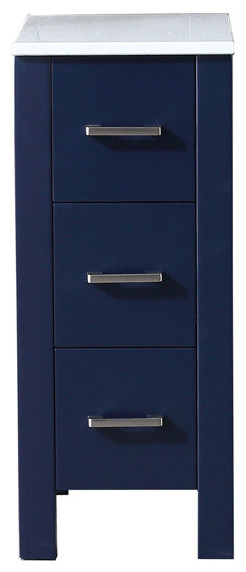 "12"" Side Cabinet, Navy Blue, Phoenix Stone Top."