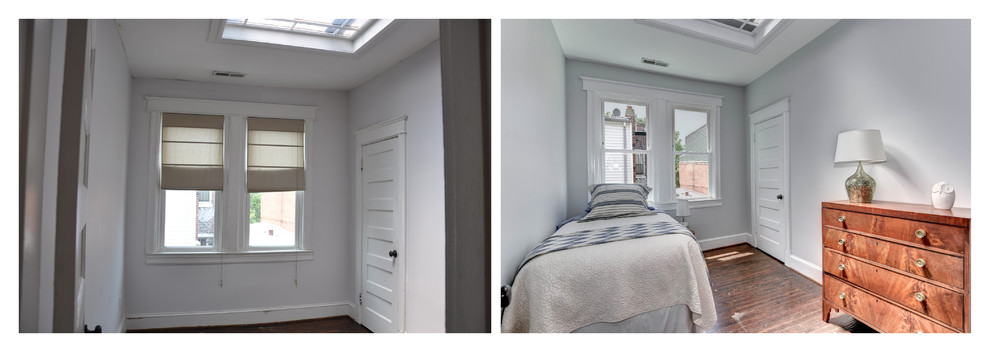 Before and after: bedroom 2