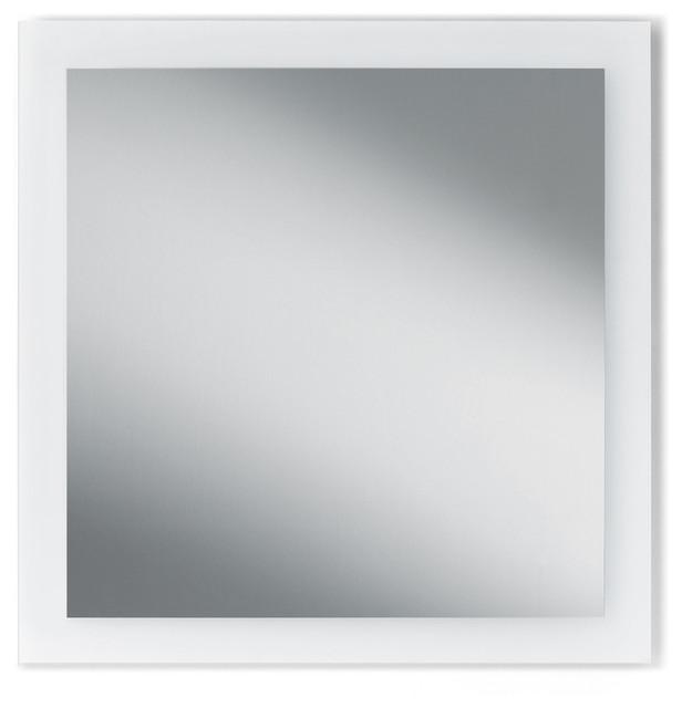 Dwba bath collection dwba wall vertical horizontal for Frameless rectangular bathroom mirror