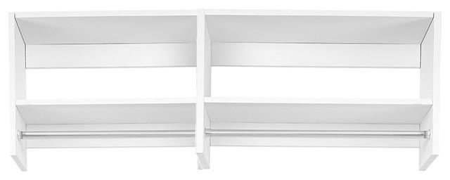 5&x27; Tall Hanging Modular Closet Organizer, Driftwood Gray