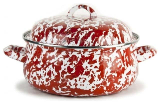 Red Swirl Dutch Oven.