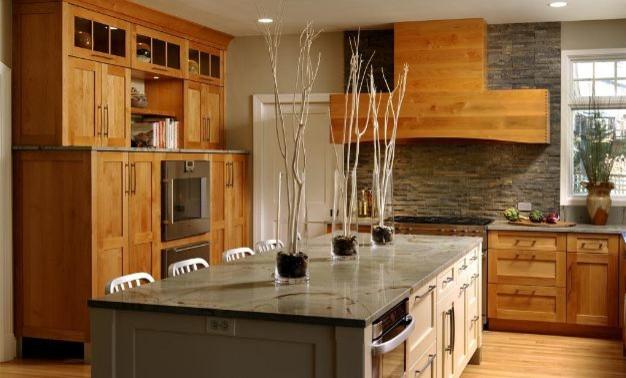 Modern Alder wood kitchen featuring Greenfield Cabinetry ...