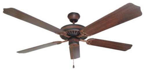 Blackend Charred Walnut 52 Ceiling Fan With Walnut Blades.