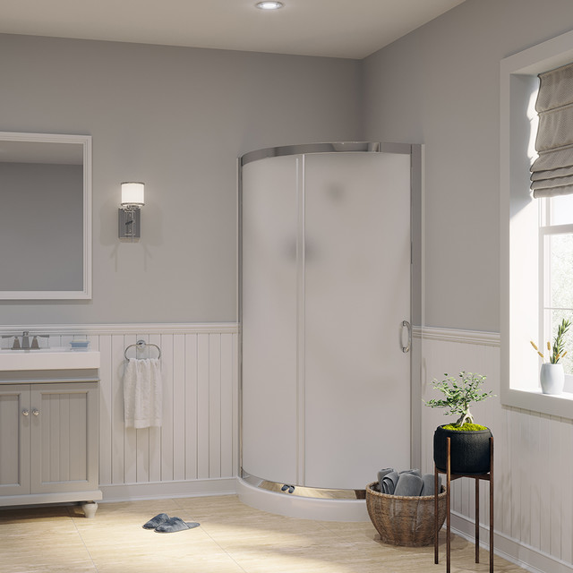 Paris Glass Shower Kit, 31, Wall and Base