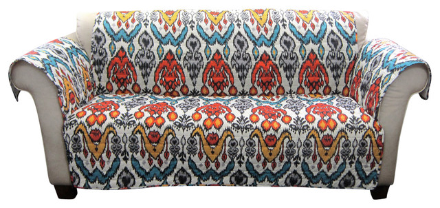 Jaipur Ikat Furniture Protector Loveseat Slipcovers And Chair