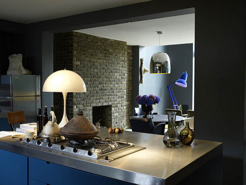 Abigail Ahern's basement kitchen eclectic kitchen
