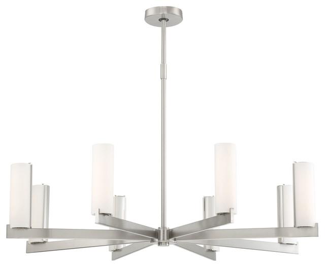 george kovacs led chandelier in brushed nickel