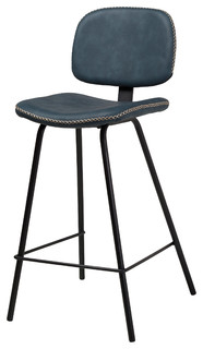 Celine Counter Stool With Gold Stitching