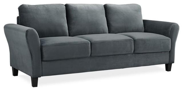 Mavrick Sofa, Dark Gray Transitional Sofas