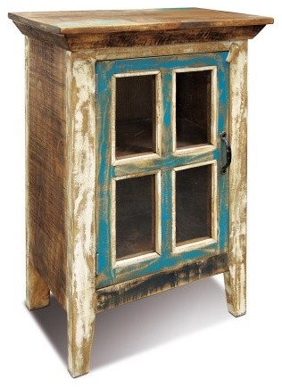 crafters and weavers rustic distressed reclaimed wood curio glass cabinet china cabinets and hutches
