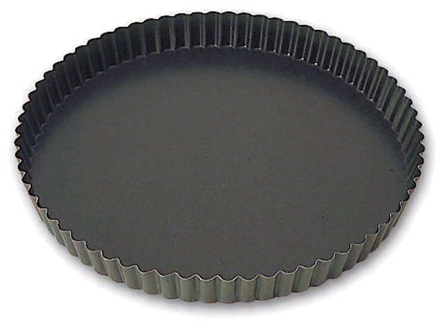 "Matfer Bourgeat Steel Exopan Fluted Non-Stick Tart Pan, 8.62""."