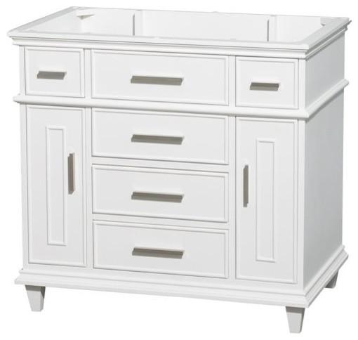 Berkeley 36 Single Vanity No Countertop And No Sink, White, No Mirror.