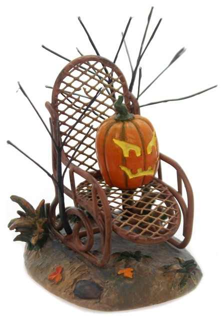 Department 56 Accessory Haunted Porch Rocker Halloween Village Pumpkin 6001742.