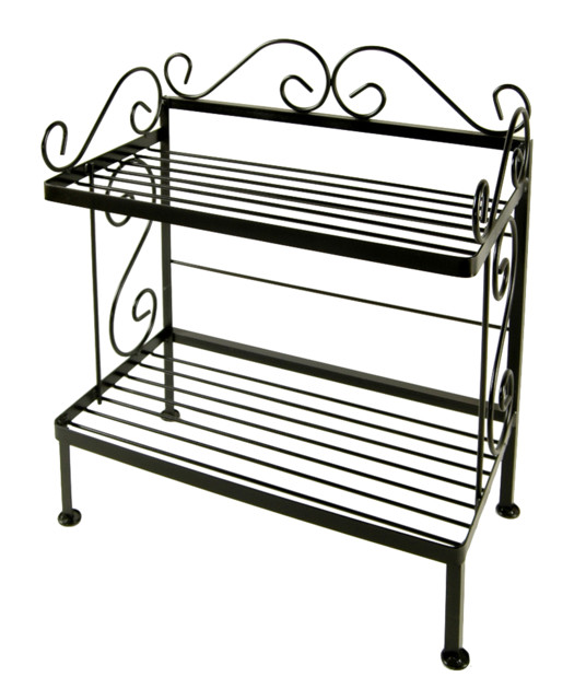 Small Wrought Iron Bakers Rack Plant Stand
