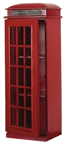 London Telephone Booth Disc Cabinet - Contemporary - Media ...