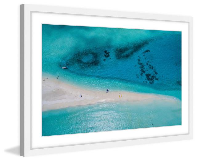 """white Sand Stretch"" Framed Painting Print."