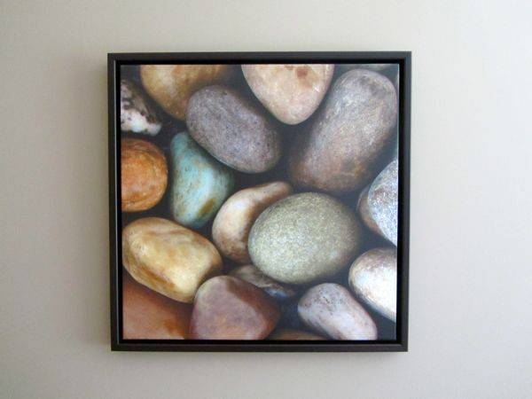 canvas art   rocks   pebbles