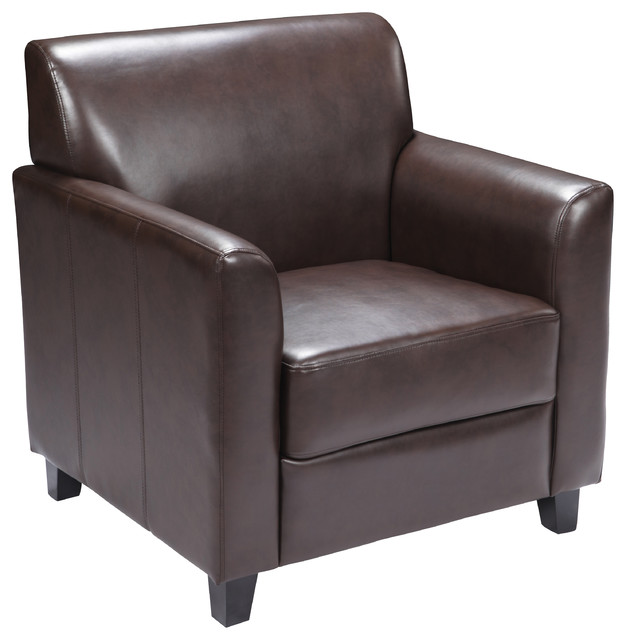 Hercules Diplomat Series Leather Chair, Brown