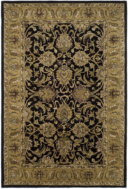 Safavieh Classic Cl252a Black Gold Area Rug Traditional Area