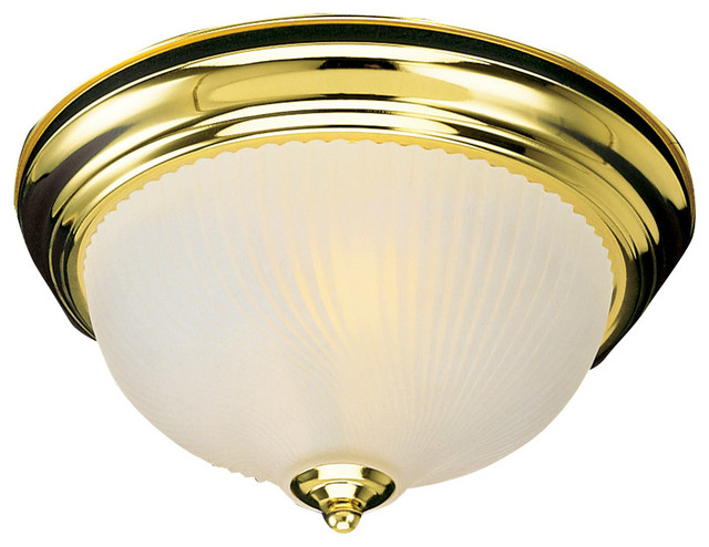 Brass Finish Ceiling Lights : Light ceiling mount in polished brass finish