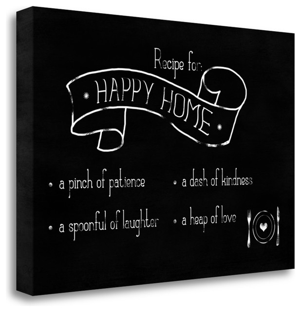 Recipe For Happy Home By Anna Quach Giclee Print On Gallery Wrap