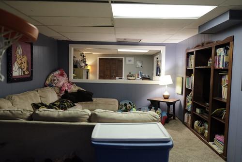 basement makeover, interior design transformation, kristen bell sister