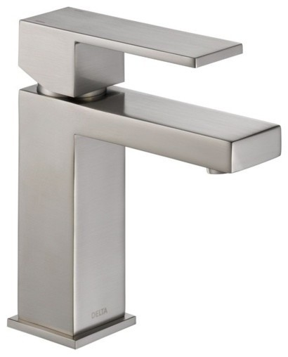 Delta Modern Faucet With Single-Lever Handle, Brilliance Stainless.