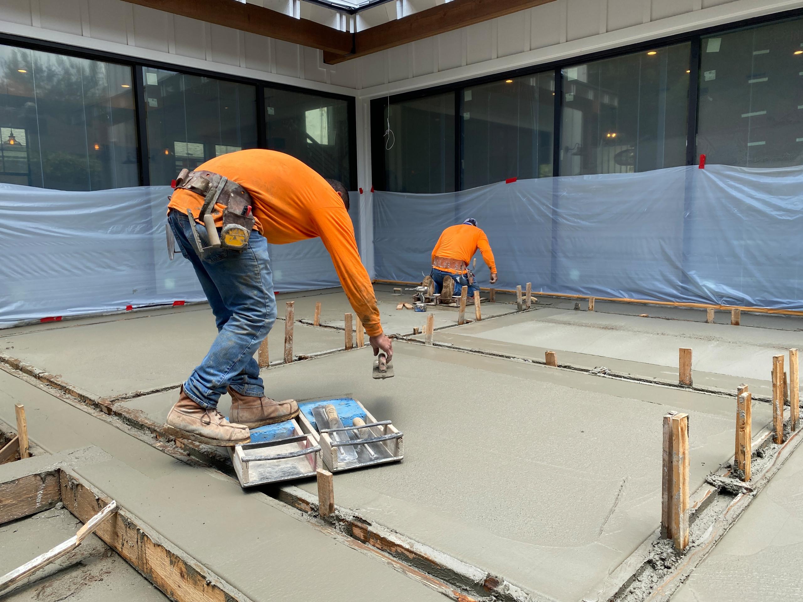 Finishing a New Concrete Patio in La Jolla Shores