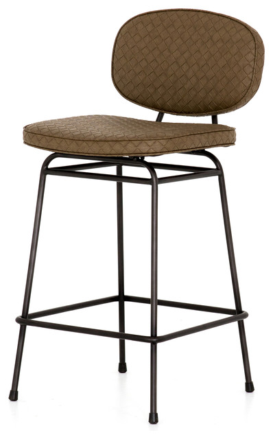 Fabulous 37 5 Veronica Counter Stool Embossed Brownstone Bar Iron Faux Leather Waxed Short Links Chair Design For Home Short Linksinfo