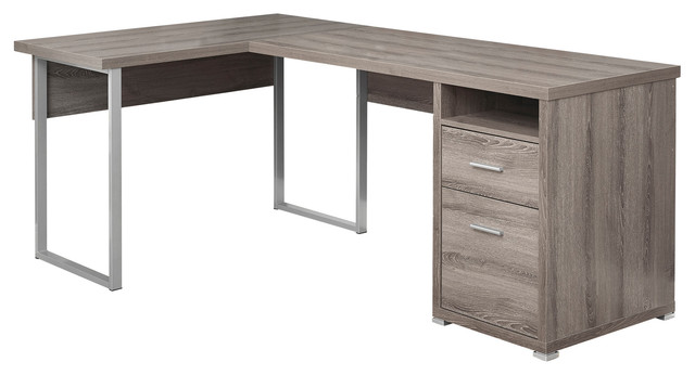 Left Or Right Facing Computer Desk Taupe