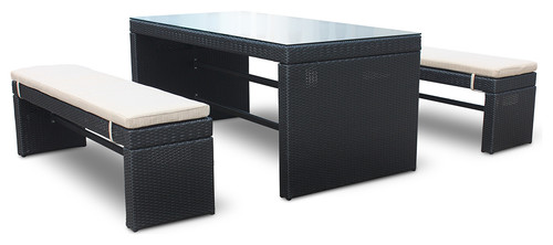Marvelous Do The Bench Seat Fit Under The Table For Storage?