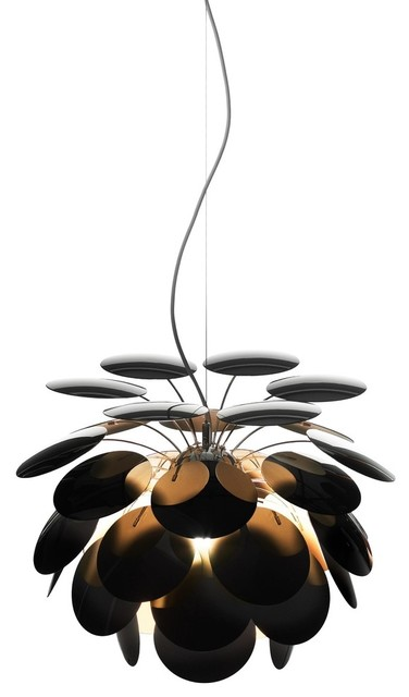 Marset Discoco Pendant Light, Black and Gold, Extra Large