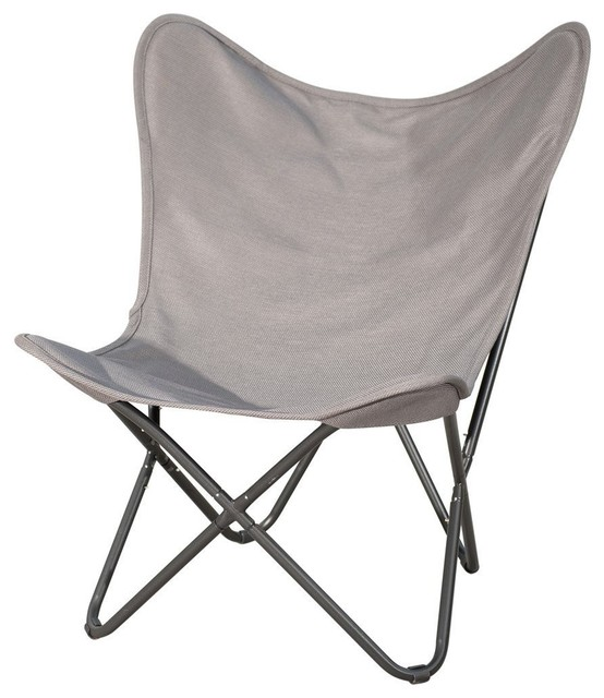 Patio Post Erfly Chair With Steel Frame And Replacement Cover