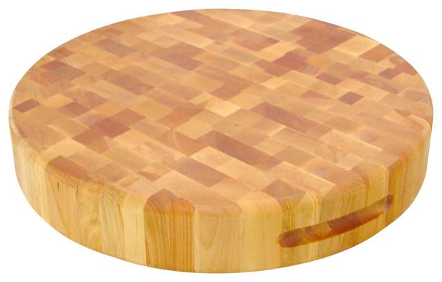 "Catskill Craftsmen 17"" Round End Grain Cutting Board, Birch"