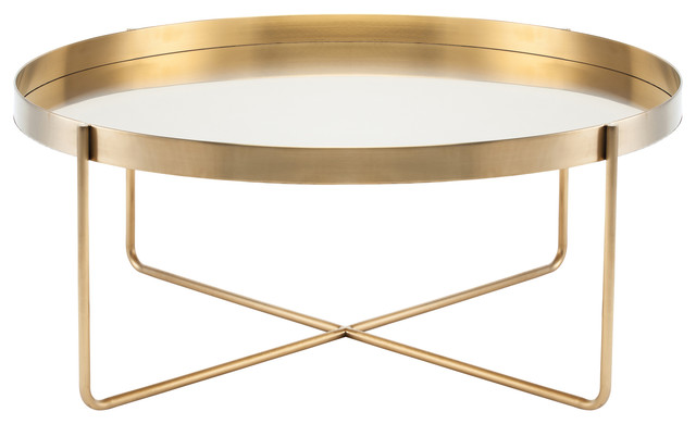 Merveilleux Gaultier Coffee Table, Gold, ...