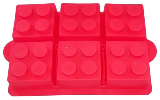 Lego Silicone Brick Cake Mold, Set of 2