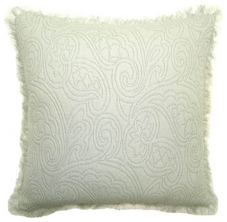 Zen Throw Pillows : Zen, Floral Pillow - Contemporary - Decorative Pillows - by Square Feathers, Rhome Living LLC