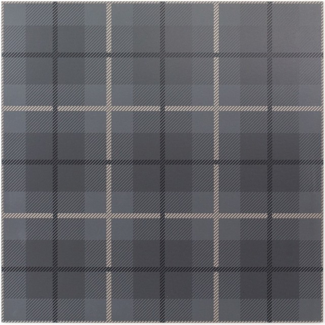 "Plaid Gray 24""x24"" Porcelain Tile, Set of 3"