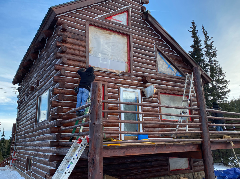 Fairplay Log Home Interior Exterior Staining and Chinking