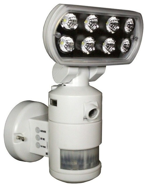 Versonel Nightwatcher Pro Robotic Led Security Light With Color Camera Contemporary Outdoor Flood