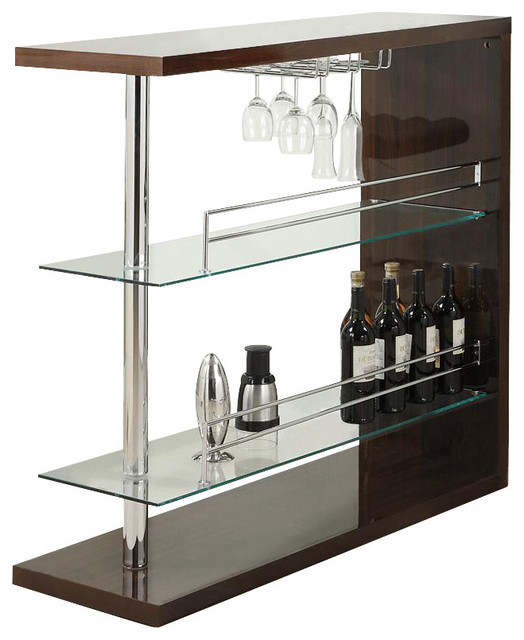 CO Fine Furniture Wine Rack Bar Table Unit With 2 Glass