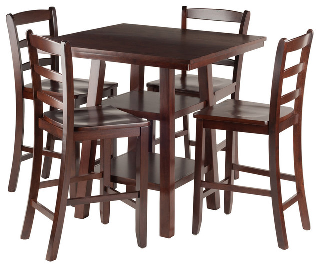 Shop Houzz Winsome Orlando 5 Piece Set High Table With 4