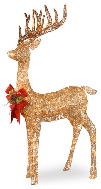 "48"" Pre-Lit Standing Reindeer."
